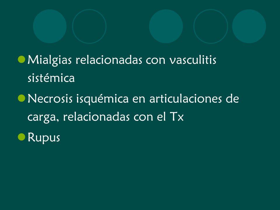 Mialgias relacionadas con vasculitis sistémica