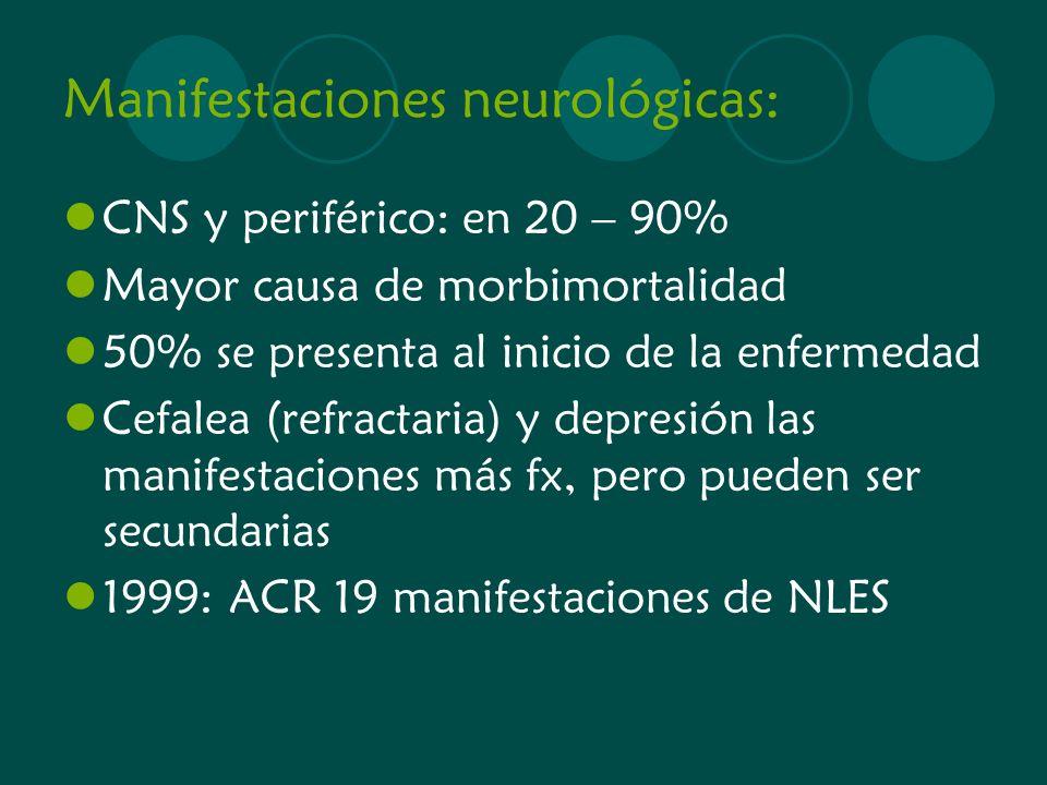 Manifestaciones neurológicas: