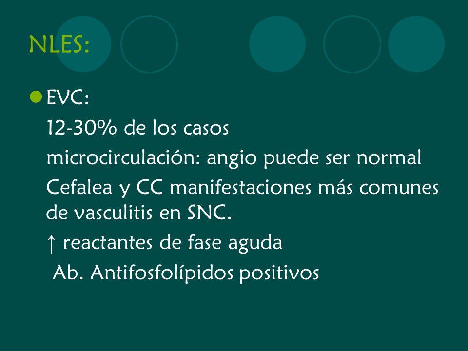 NLES: EVC: 12-30% de los casos