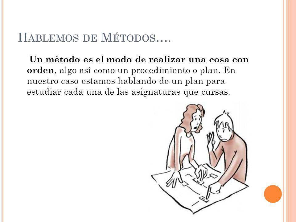 Hablemos de Métodos….