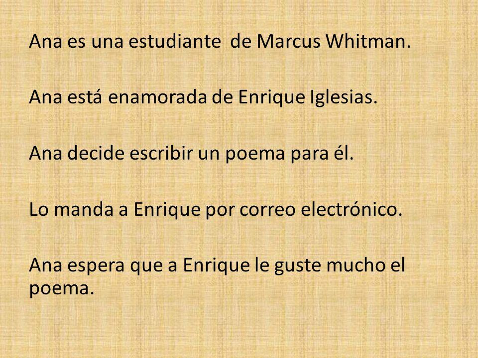 Ana es una estudiante de Marcus Whitman
