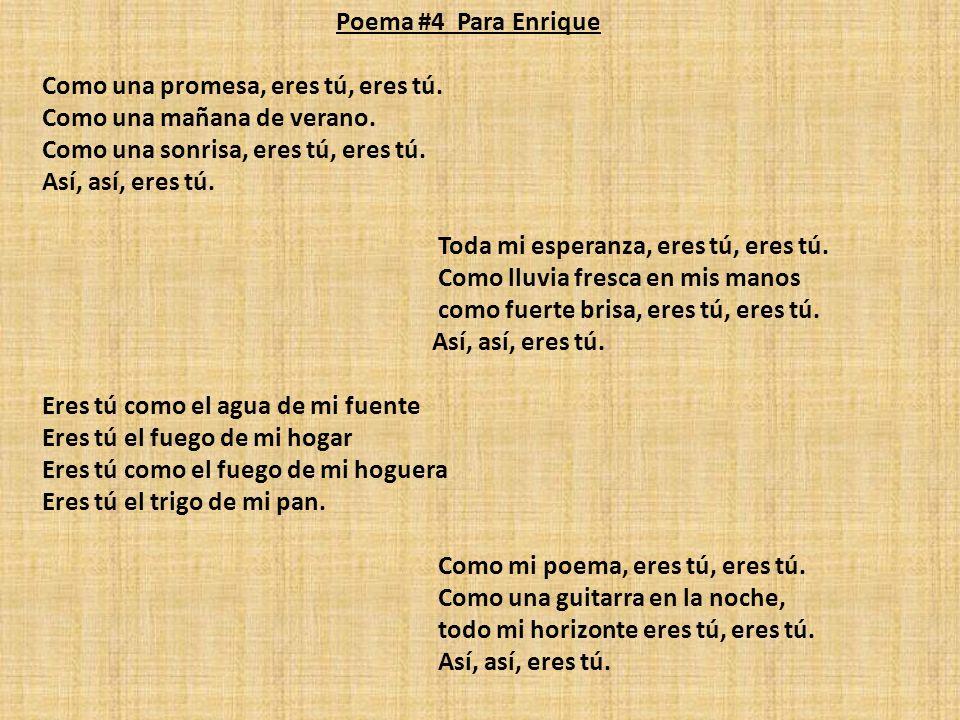 Poema #4 Para Enrique
