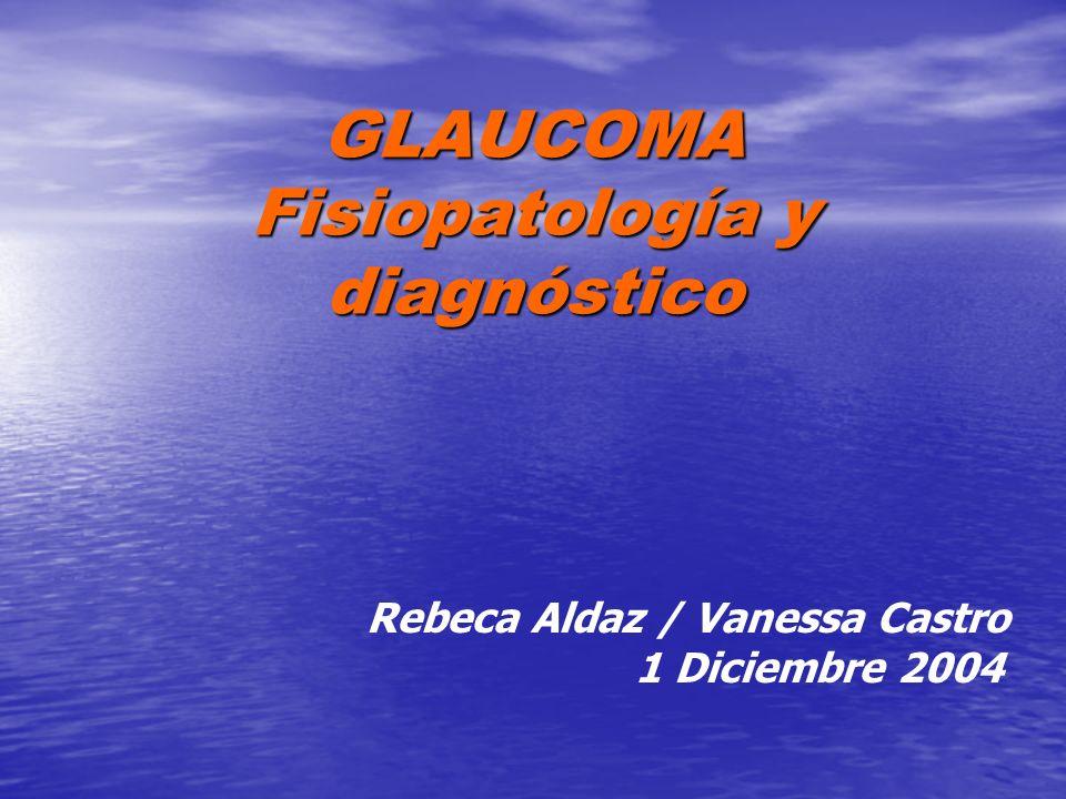 GLAUCOMA Fisiopatología y diagnóstico