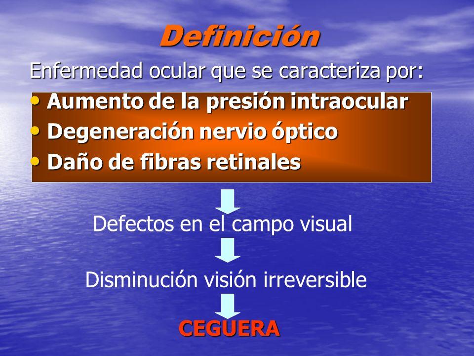 Definición Enfermedad ocular que se caracteriza por: