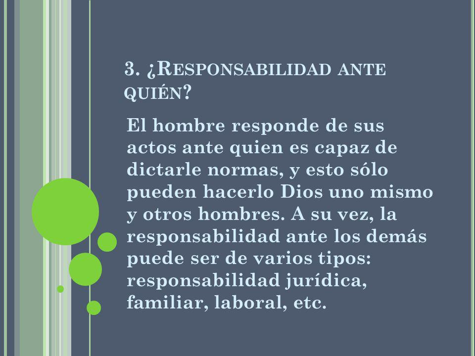 3. ¿Responsabilidad ante quién