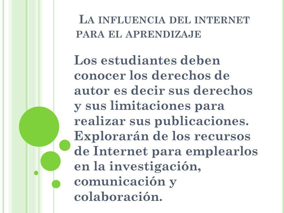 La influencia del internet para el aprendizaje