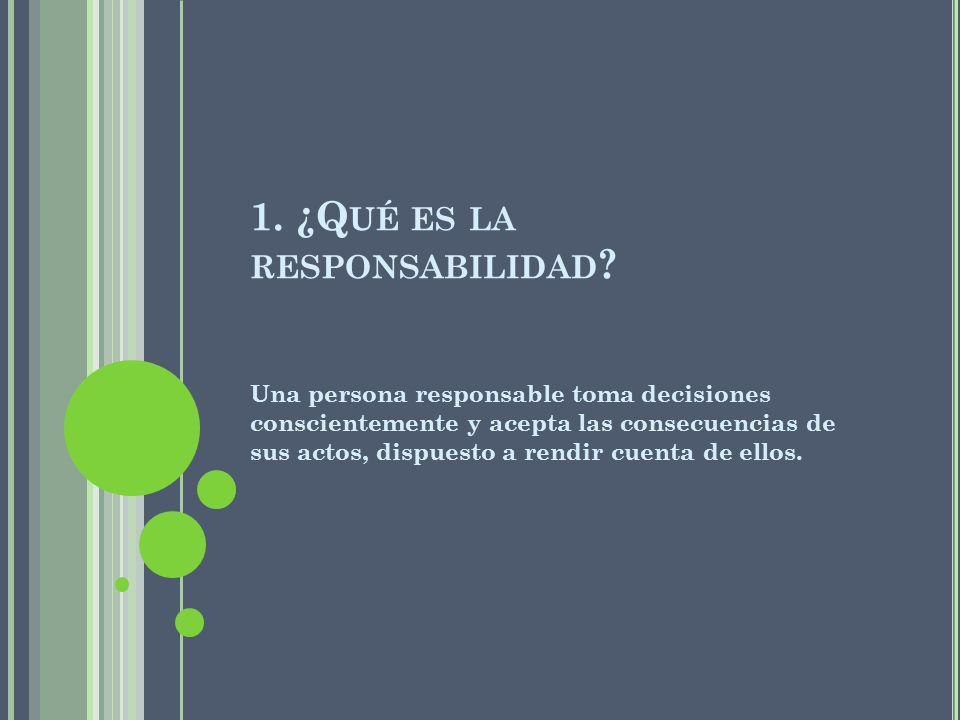 1. ¿Qué es la responsabilidad