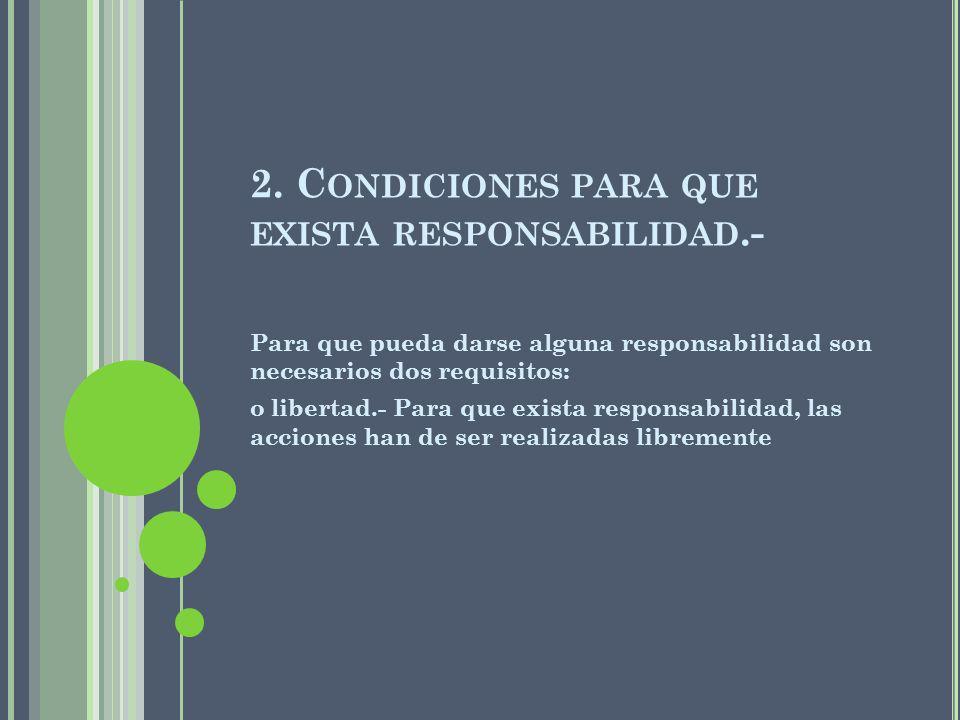 2. Condiciones para que exista responsabilidad.-