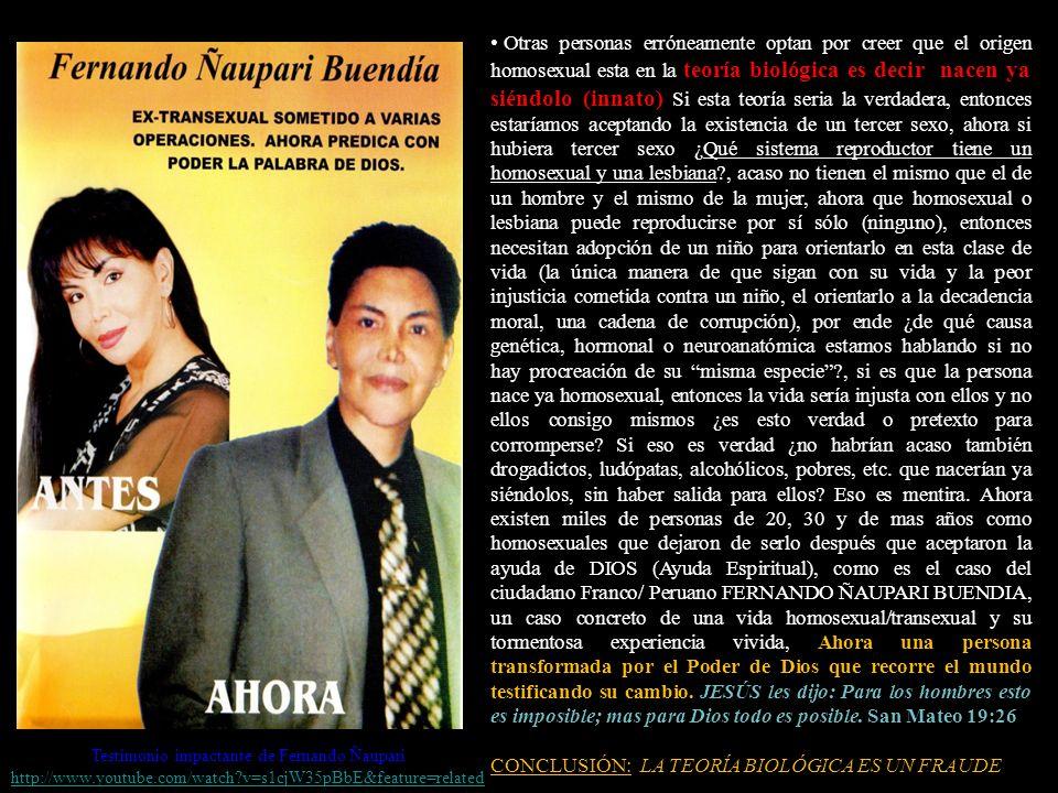 Testimonio impactante de Fernando Ñaupari
