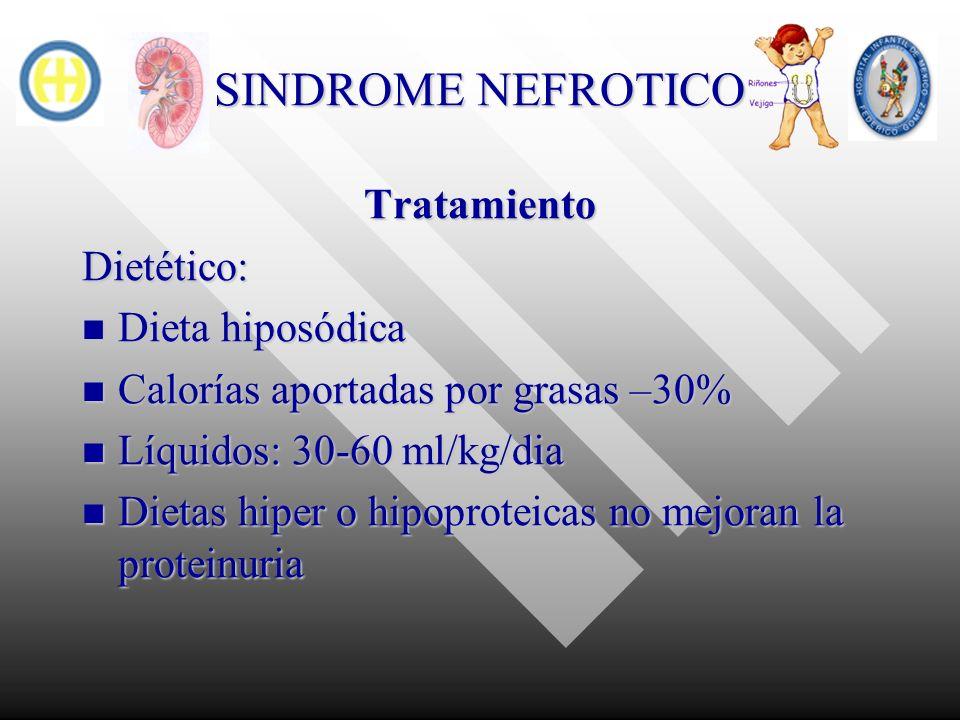 SINDROME NEFROTICO Tratamiento Dietético: Dieta hiposódica