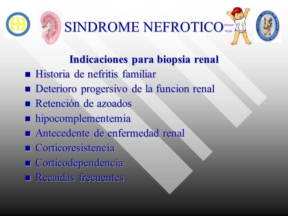 Indicaciones para biopsia renal