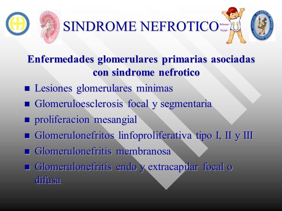 Enfermedades glomerulares primarias asociadas con sindrome nefrotico