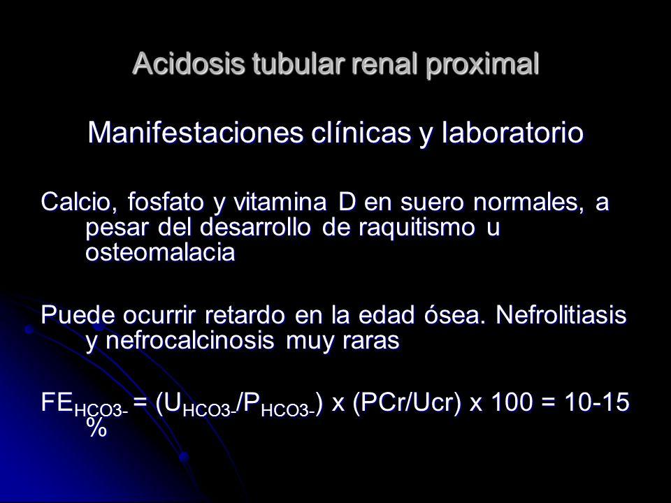 Acidosis tubular renal proximal