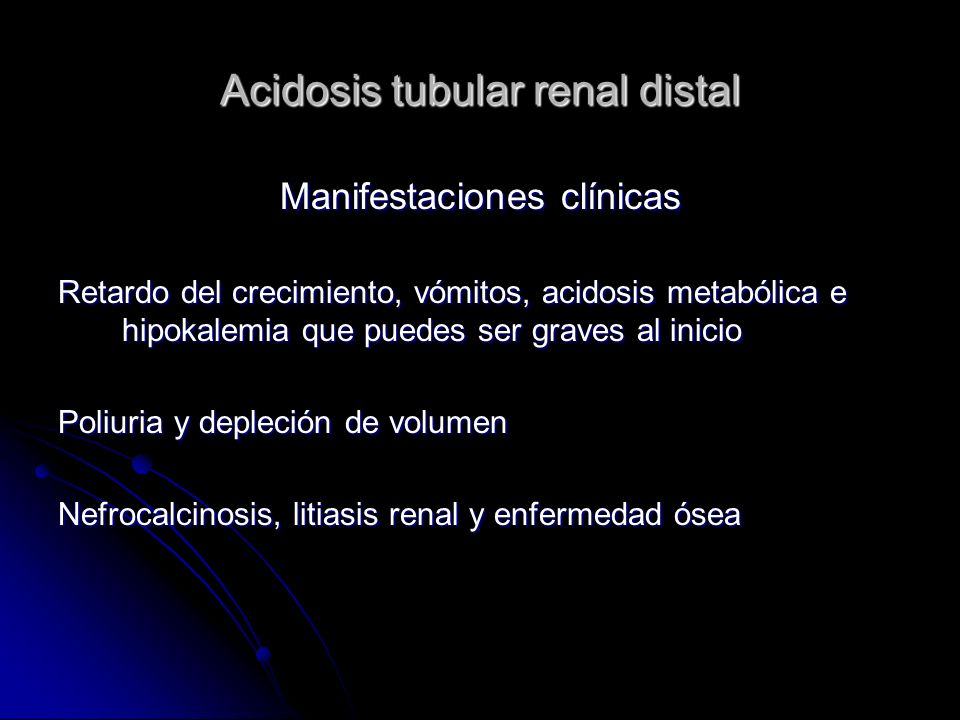 Acidosis tubular renal distal