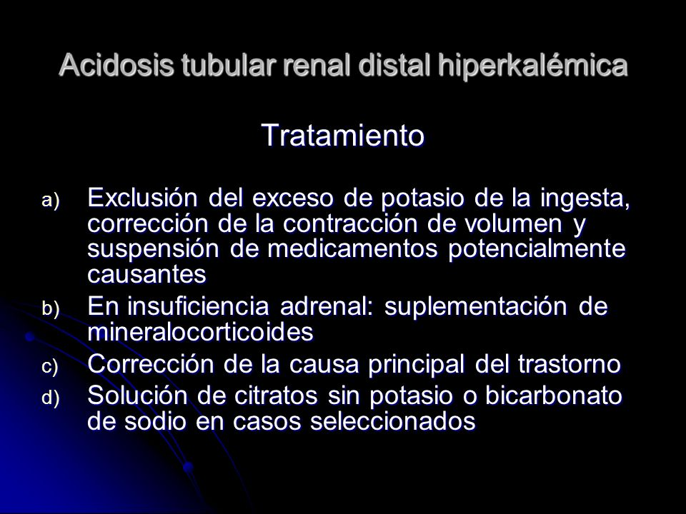 Acidosis tubular renal distal hiperkalémica