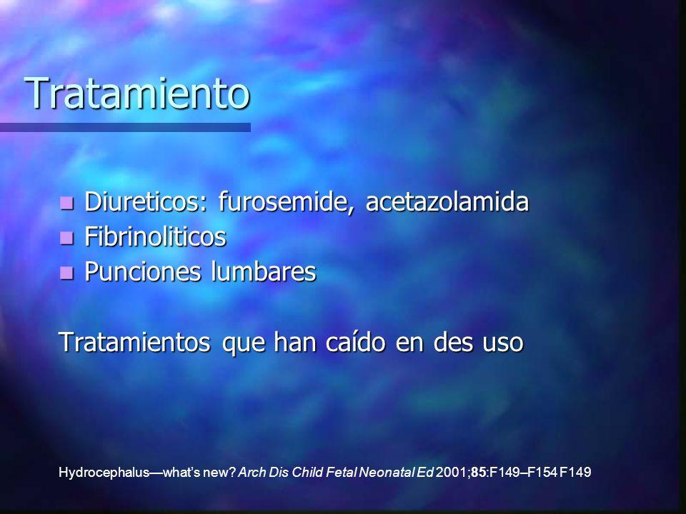 Tratamiento Diureticos: furosemide, acetazolamida Fibrinoliticos