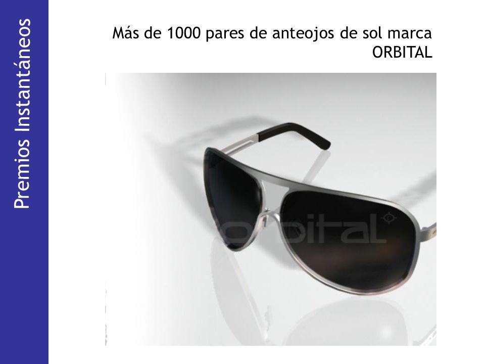 Premios Instantáneos Más de 1000 pares de anteojos de sol marca