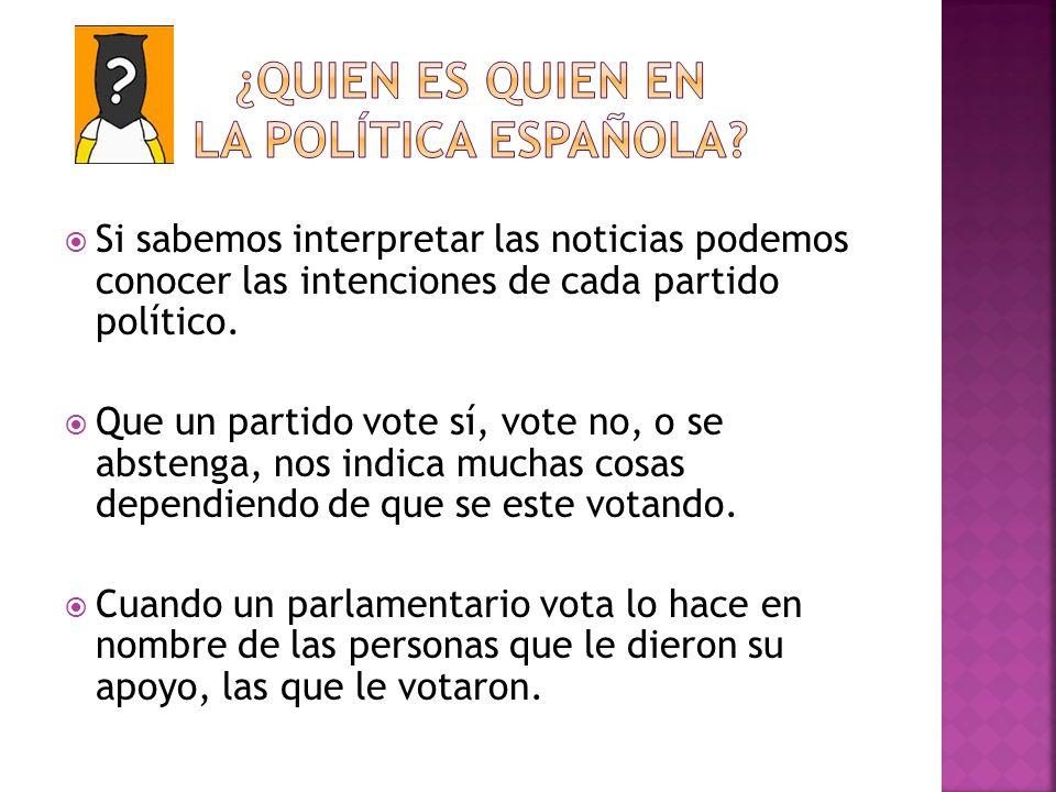 ¿QUIEN ES QUIEN EN LA POLÍTICA ESPAÑOLA