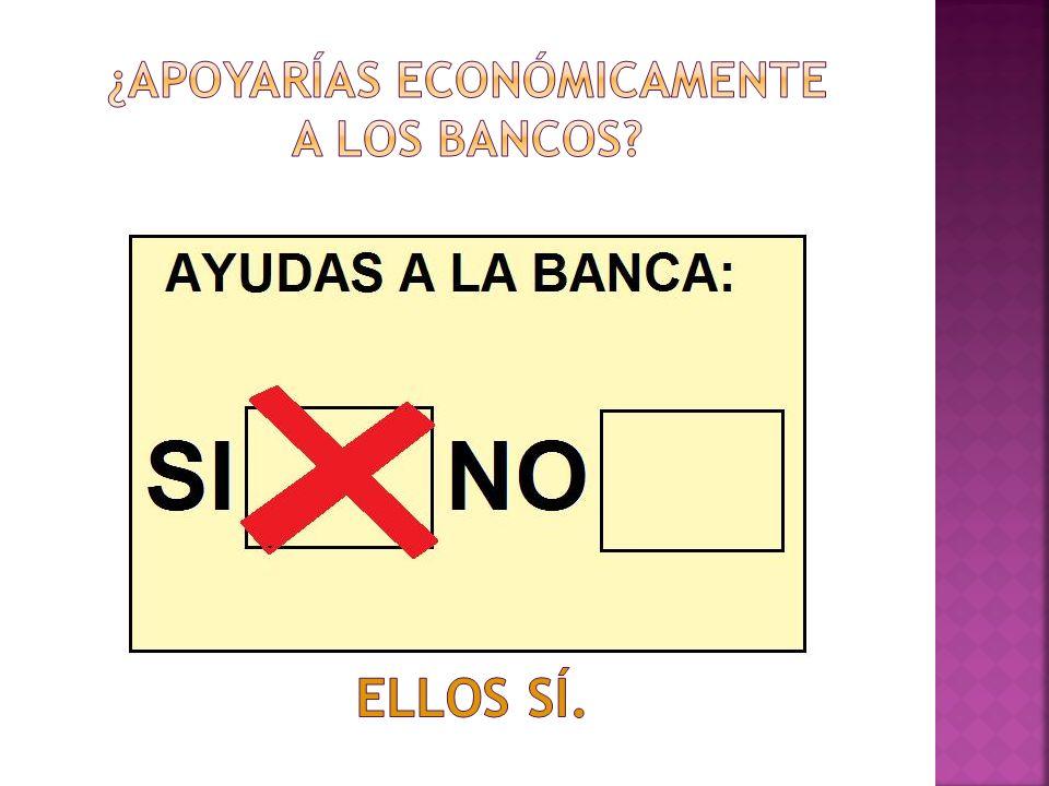 ¿apoyarías económicamente a los bancos