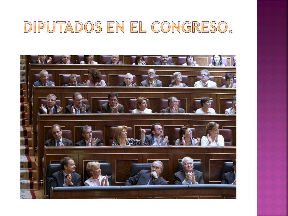 Diputados en el congreso.