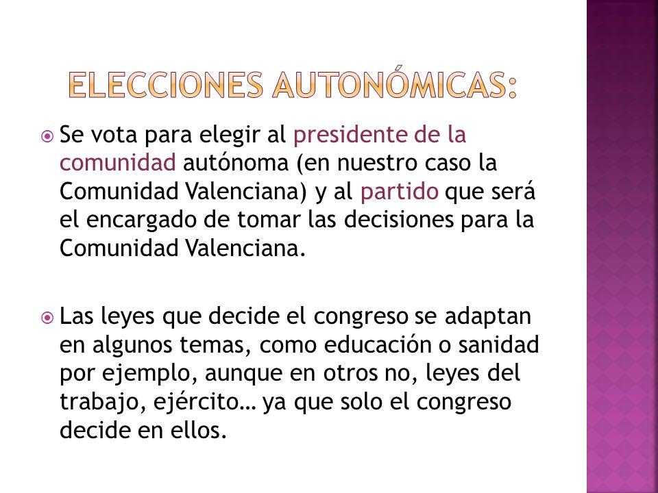ELECCIONES AUTONÓMICAS: