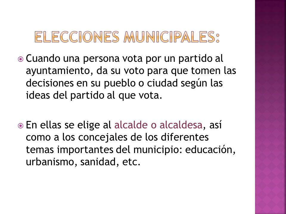 ELECCIONES MUNICIPALES: