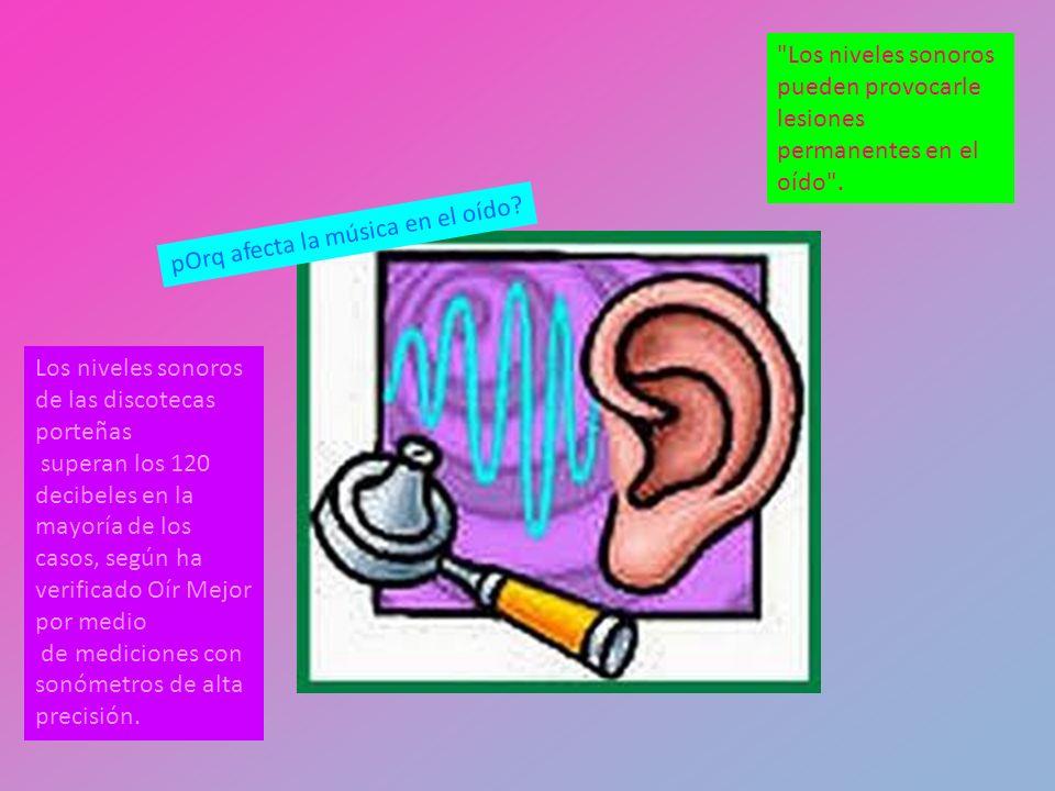 Los niveles sonoros pueden provocarle lesiones permanentes en el oído .