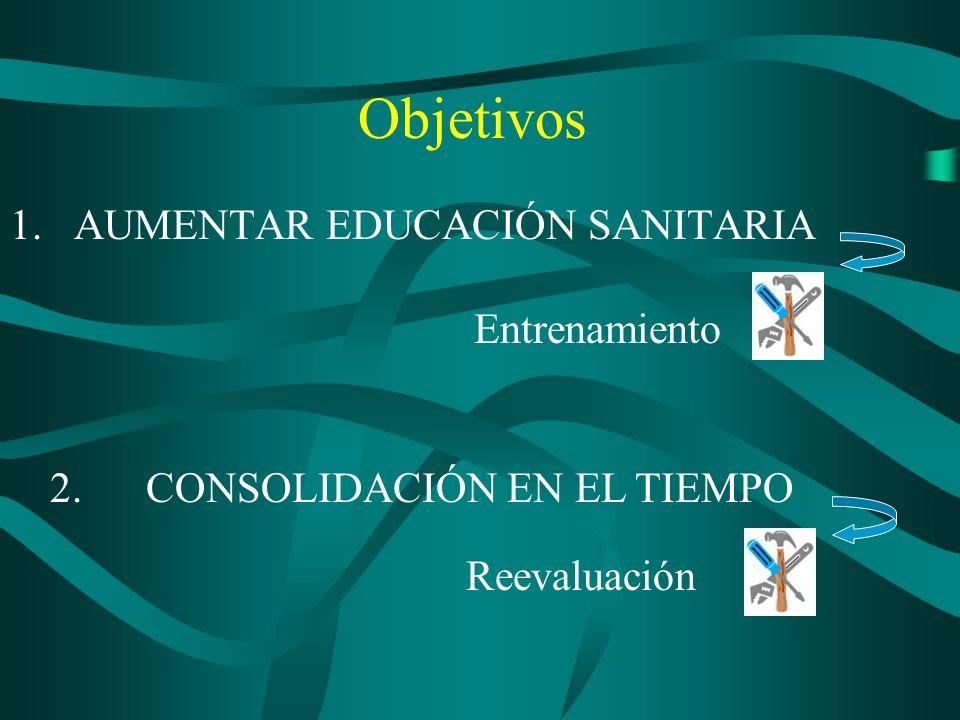 1. AUMENTAR EDUCACIÓN SANITARIA