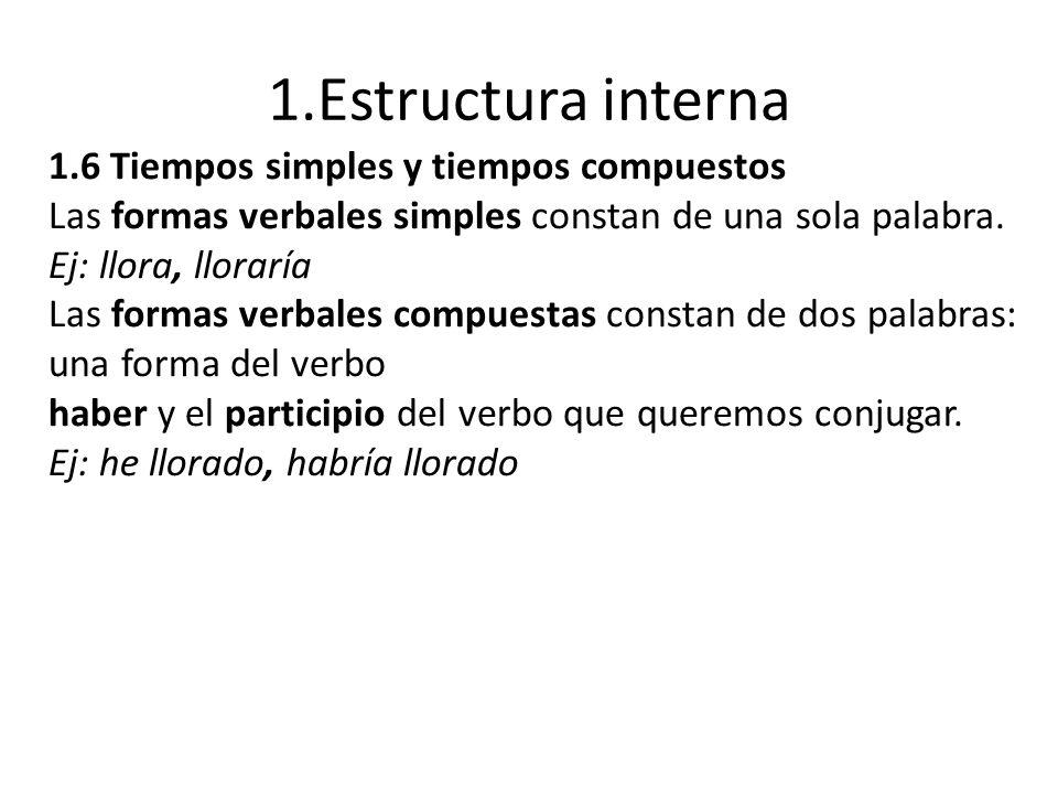 1.Estructura interna 1.6 Tiempos simples y tiempos compuestos