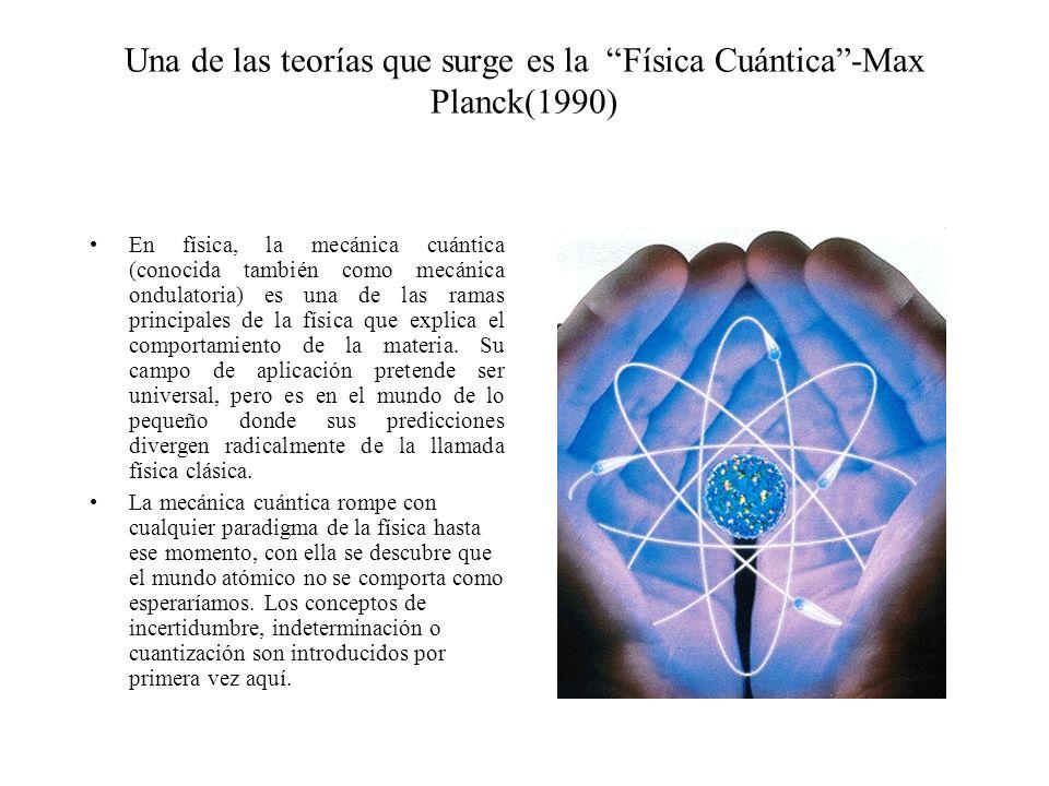 Una de las teorías que surge es la Física Cuántica -Max Planck(1990)