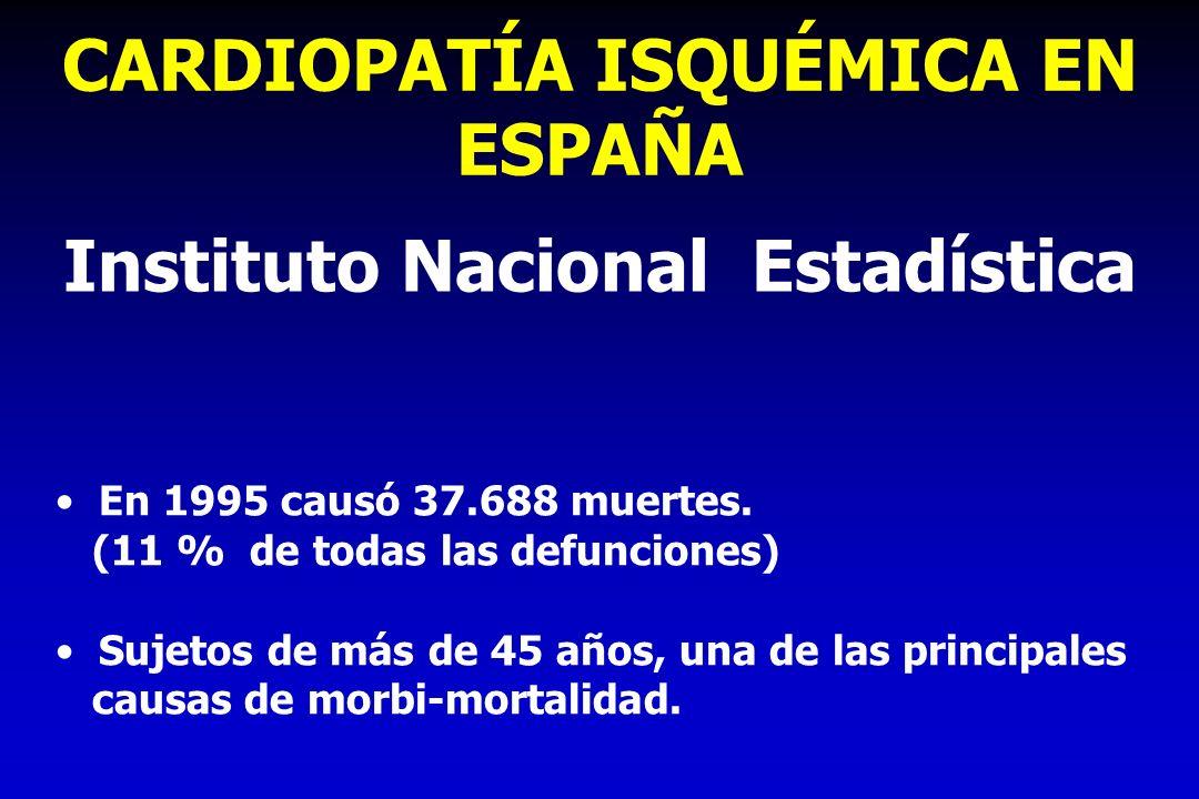 CARDIOPATÍA ISQUÉMICA EN ESPAÑA