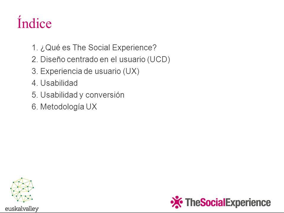 Índice ¿Qué es The Social Experience