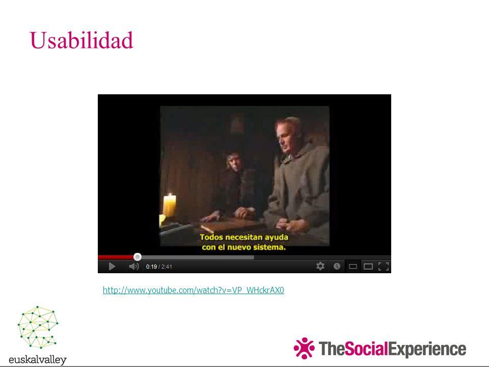 Usabilidad http://www.youtube.com/watch v=VP_WHckrAX0