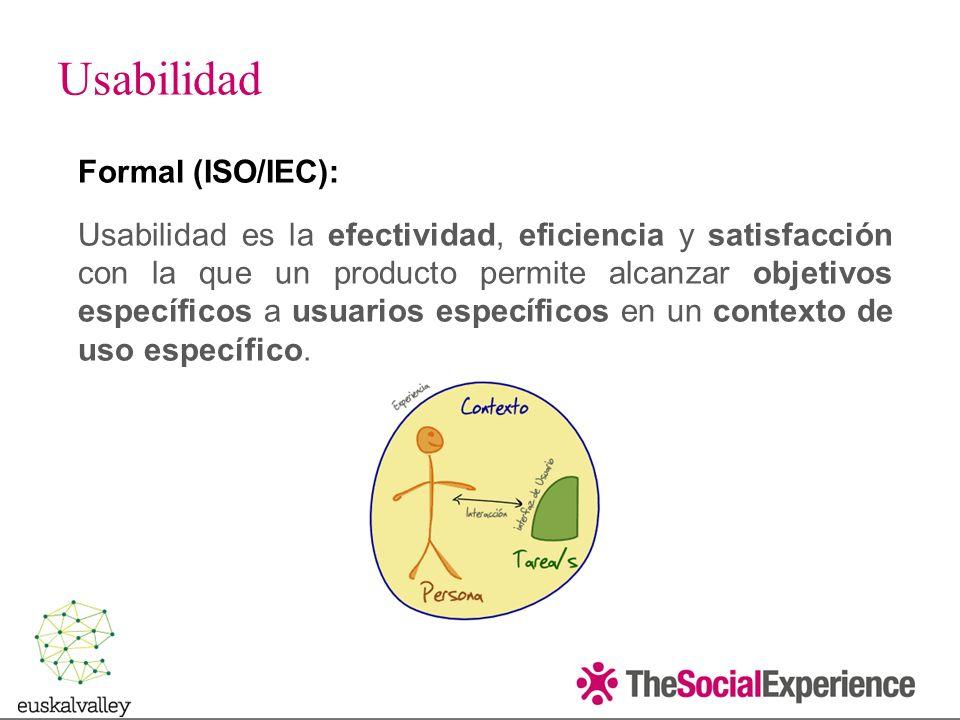 Usabilidad Formal (ISO/IEC):