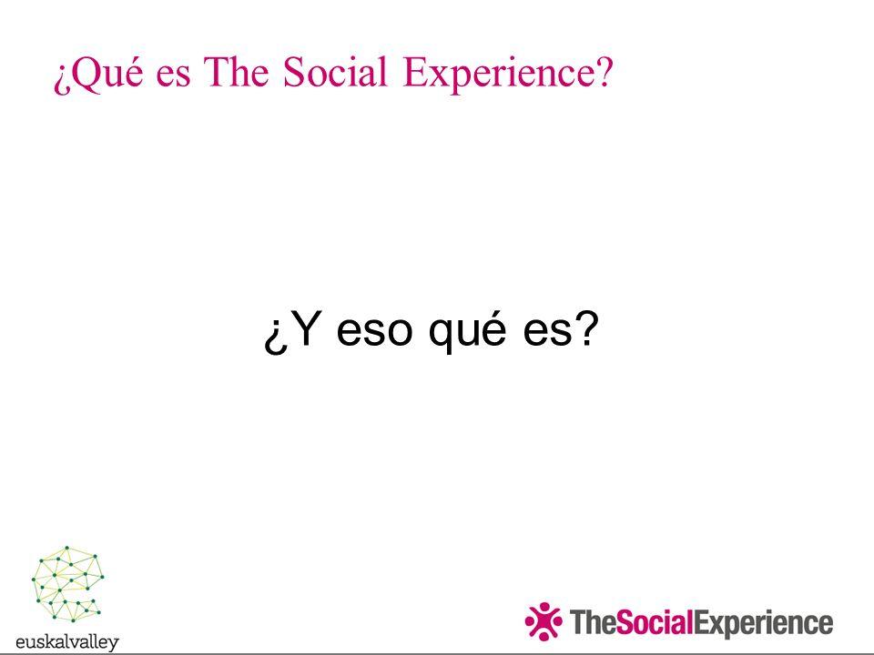 ¿Qué es The Social Experience