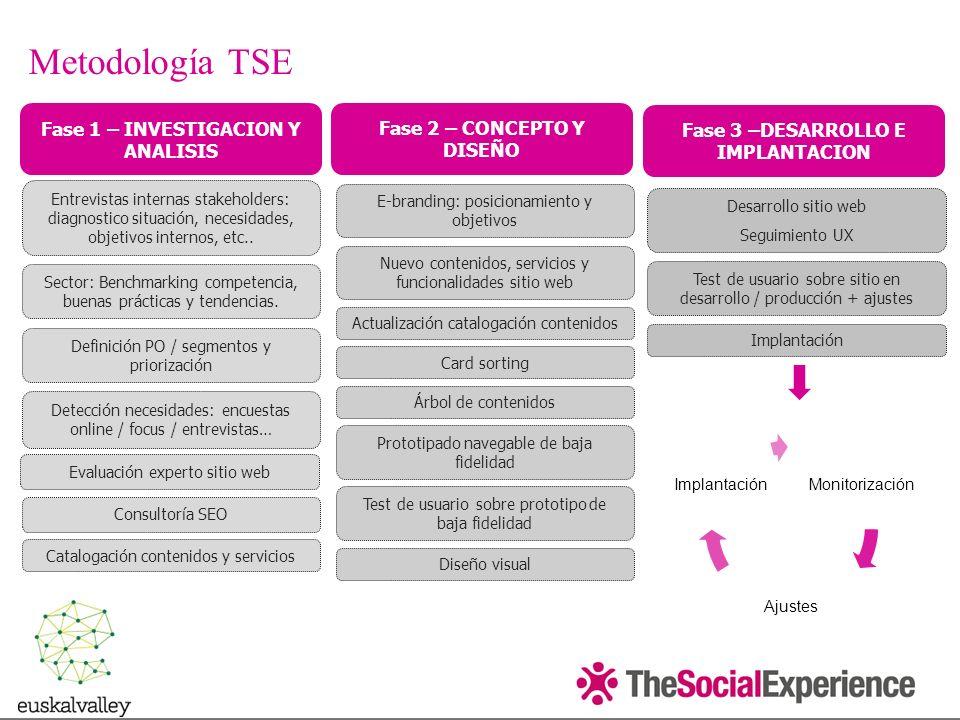 Metodología TSE Fase 1 – INVESTIGACION Y ANALISIS