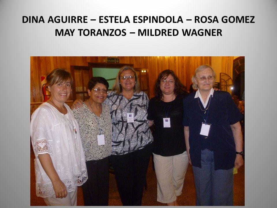 DINA AGUIRRE – ESTELA ESPINDOLA – ROSA GOMEZ MAY TORANZOS – MILDRED WAGNER