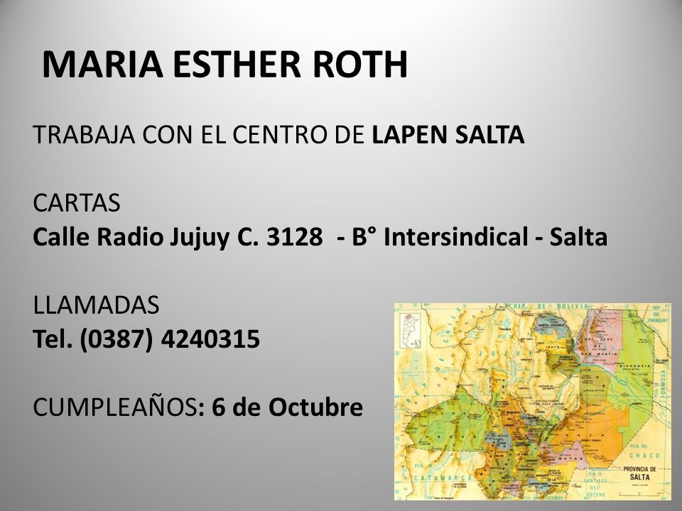 MARIA ESTHER ROTH