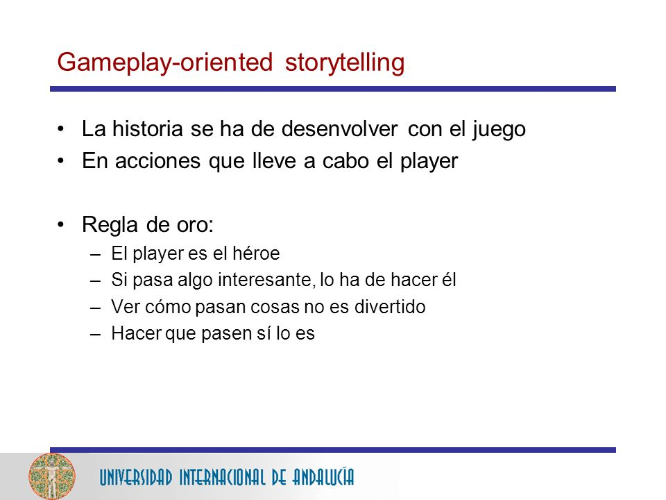 Gameplay-oriented storytelling