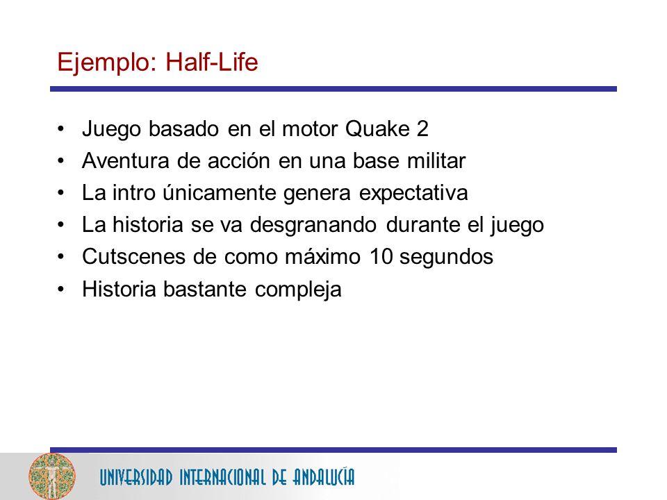 Ejemplo: Half-Life Juego basado en el motor Quake 2