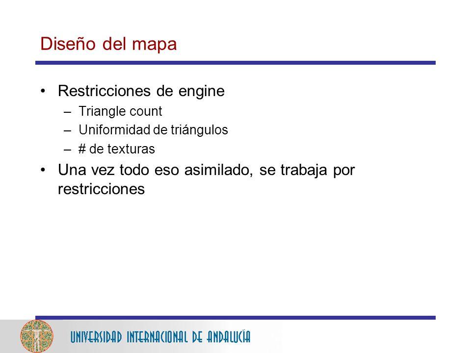 Diseño del mapa Restricciones de engine