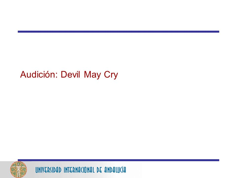 Audición: Devil May Cry