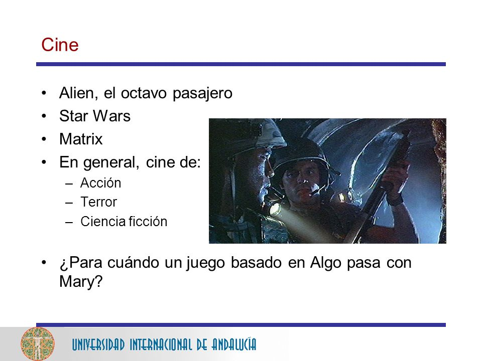 Cine Alien, el octavo pasajero Star Wars Matrix En general, cine de: