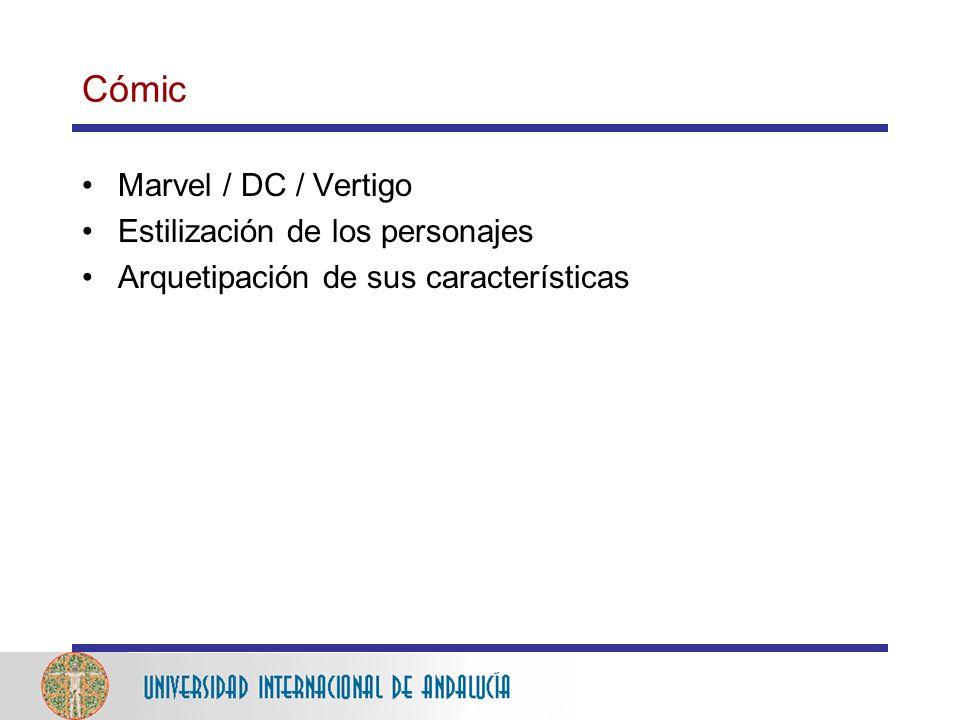 Cómic Marvel / DC / Vertigo Estilización de los personajes