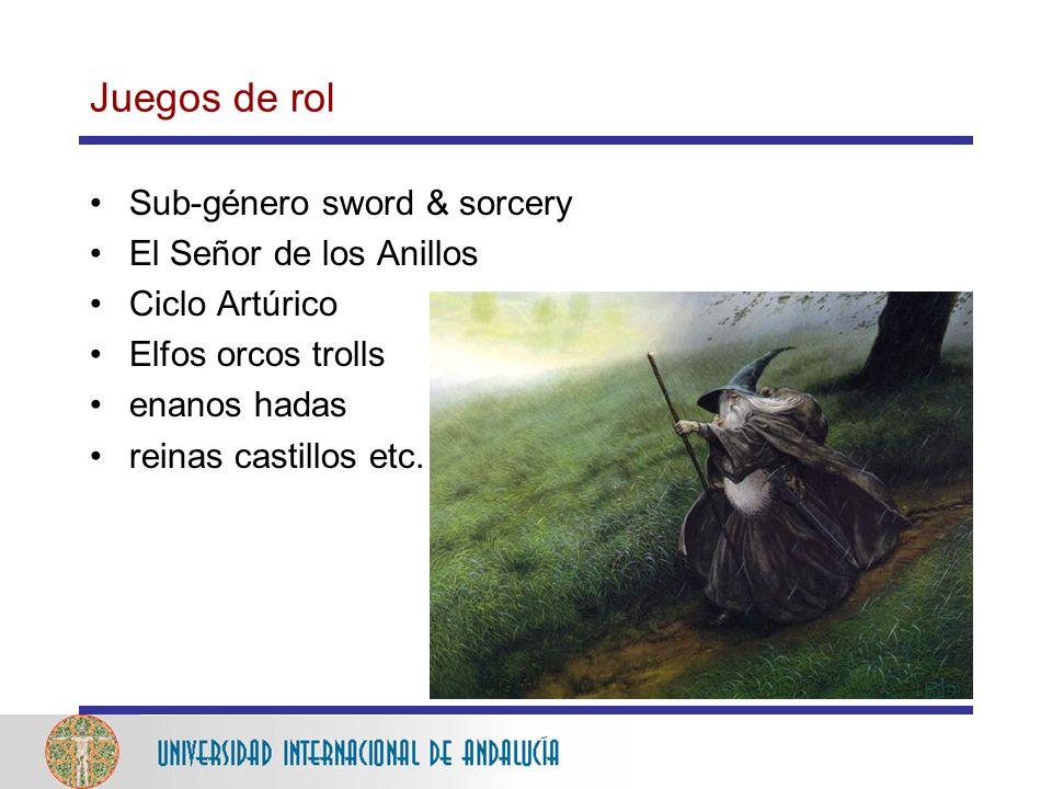 Juegos de rol Sub-género sword & sorcery El Señor de los Anillos