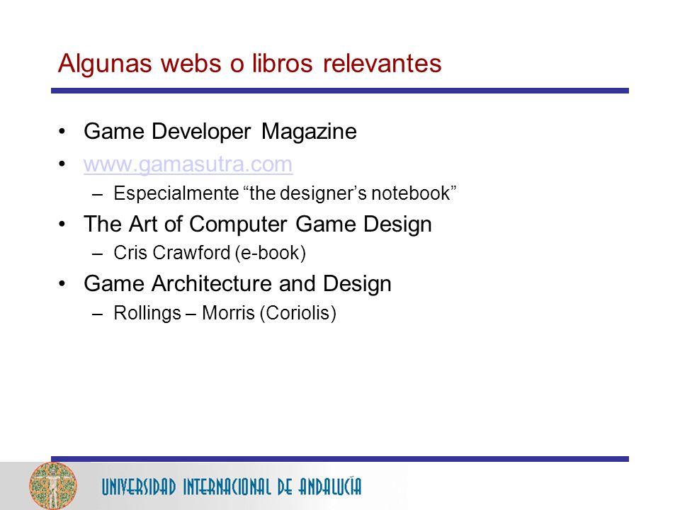 Algunas webs o libros relevantes