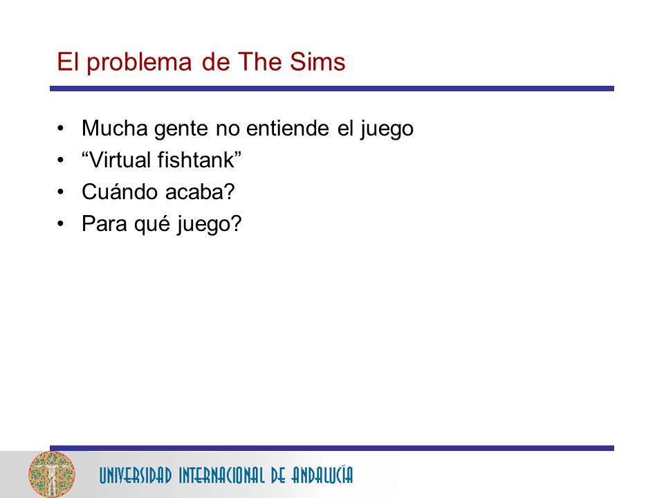 El problema de The Sims Mucha gente no entiende el juego