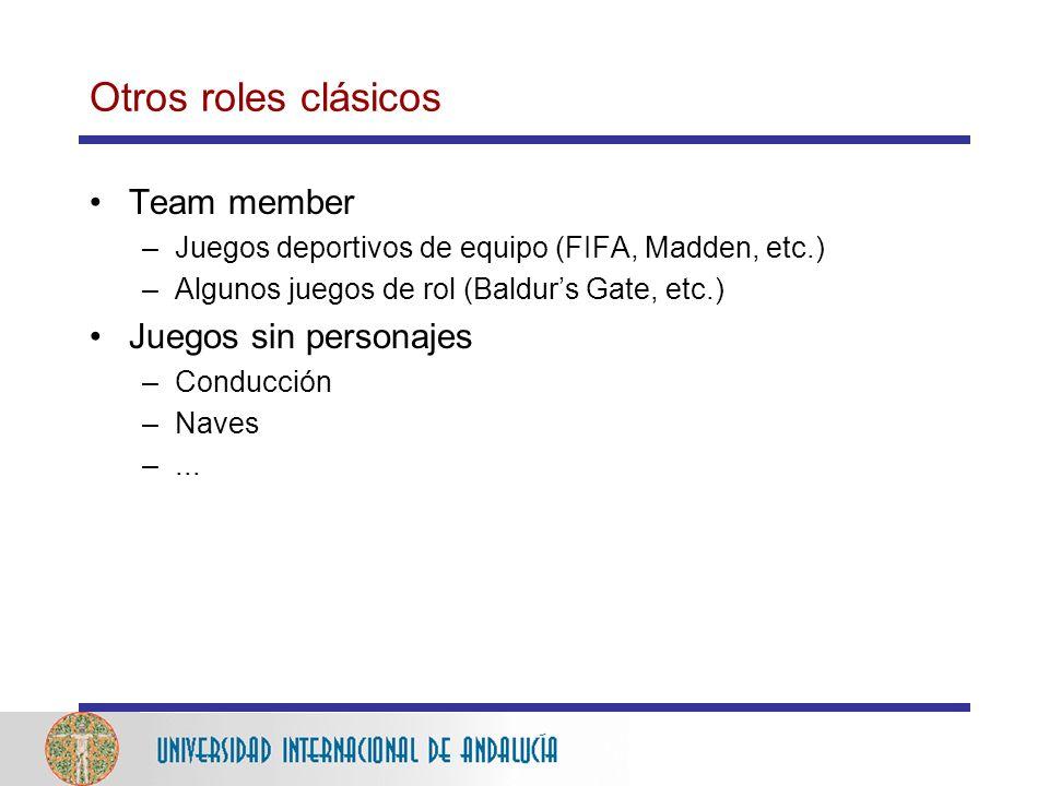 Otros roles clásicos Team member Juegos sin personajes