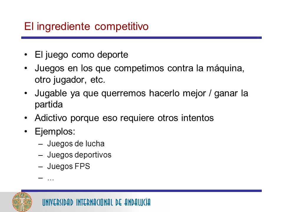 El ingrediente competitivo