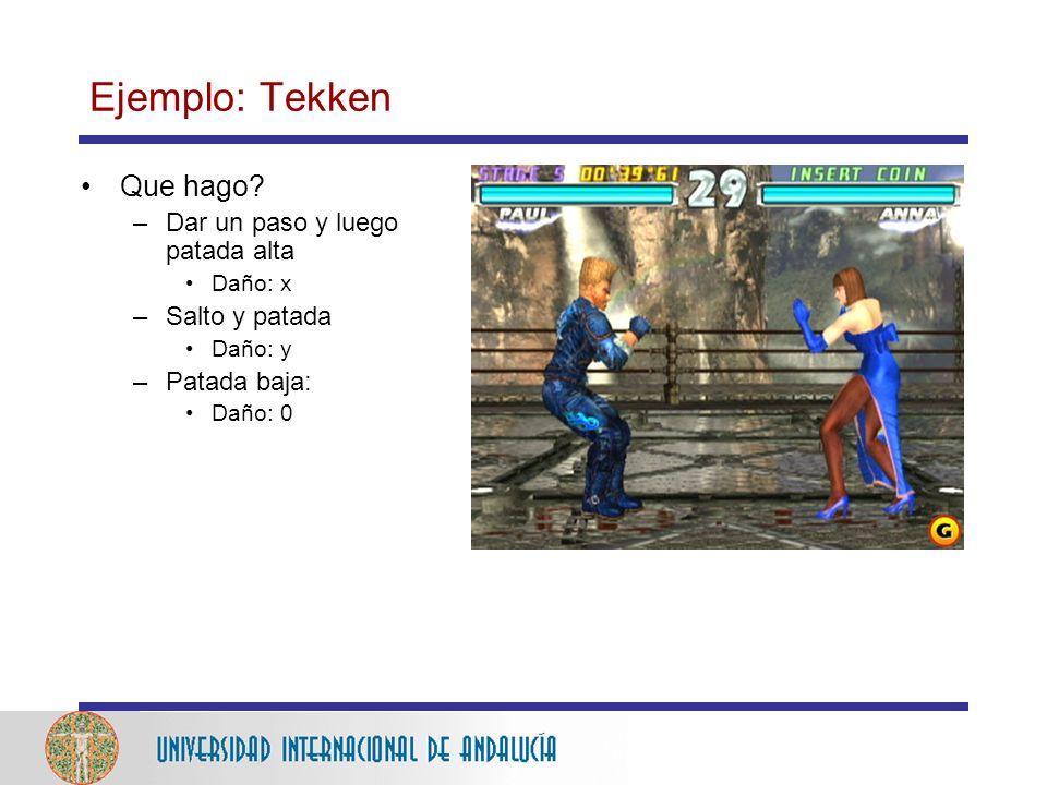 Ejemplo: Tekken Que hago Dar un paso y luego patada alta